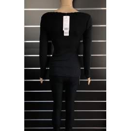 Victoria Moda női bordázott felső - Fekete