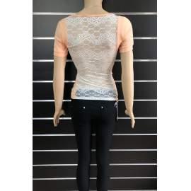 My77 női, hátul teljesen csipkés póló