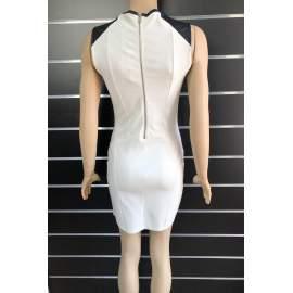 Bershka női bőrbetétes miniruha