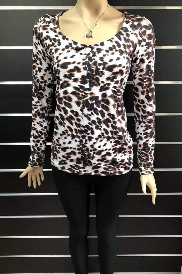 My77 női leopárd mintás felső