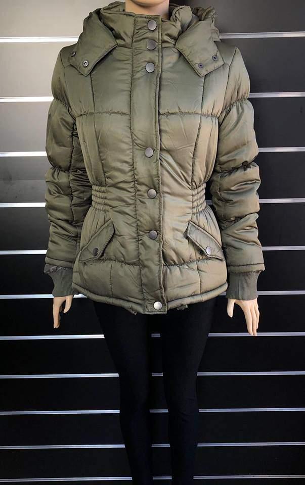 Vero Moda női steppelt kekizöld kabát