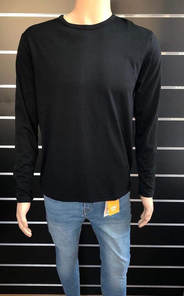 Ombre férfi vékony hosszúujjú felső - Fekete