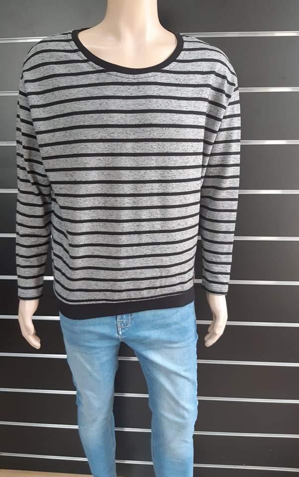 Stitch&Soul férfi vékony kötött pulóver