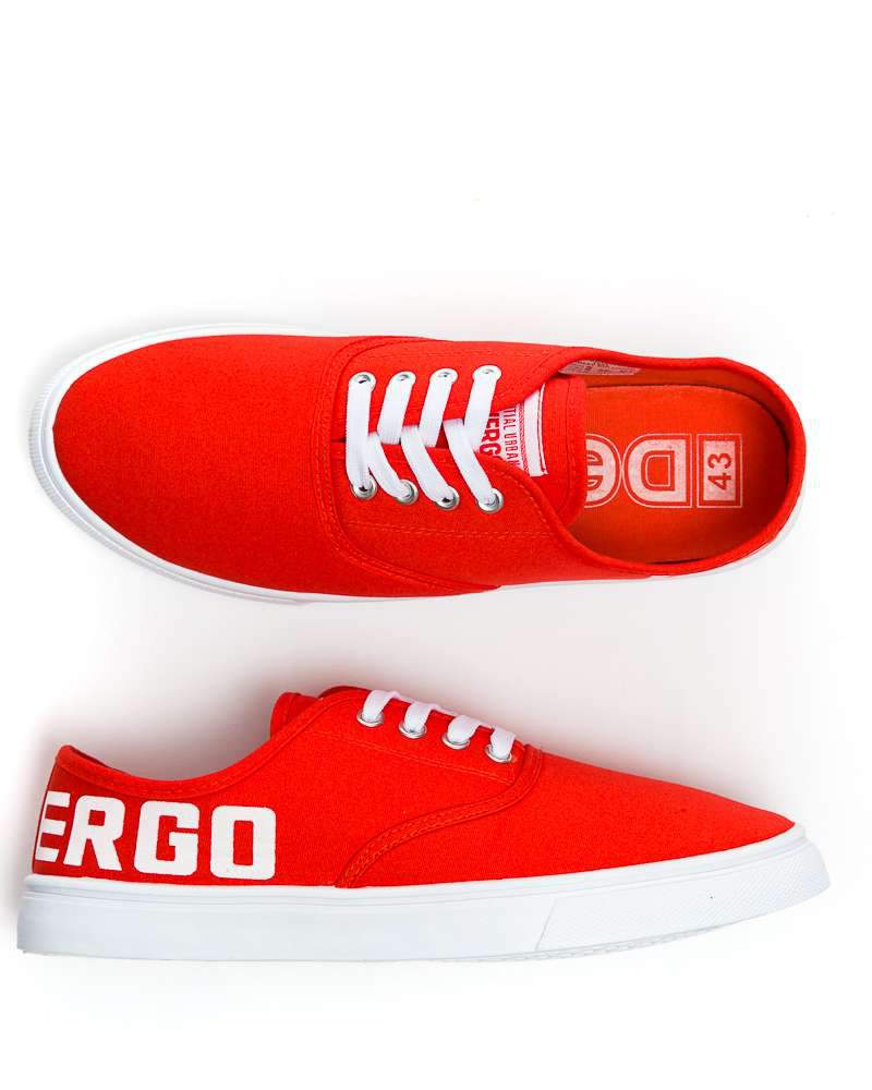 Devergo BUDLEY BIG LOGO férfi vászoncipő - Piros